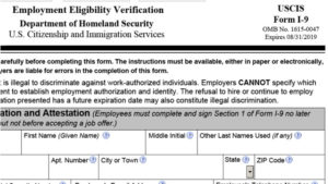 picture regarding Printable I9 Form called Clean I-9 Type Produced - Rausa, Barlotta Customers, PA